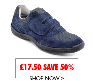 Suede Touch Fasten Travel Shoe From £17.50