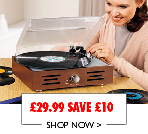 Vinyl Record Player Now £29.99