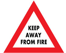 Keep away from fire