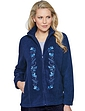 Ladies Embroidered Front Zip Fleece