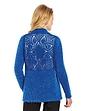 Crochet Back Feather Yarn Cardigan