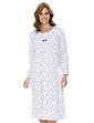 Long Sleeve Cotton Print Nightdress