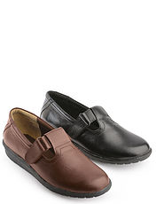 COMFORTABLE STYLISH LADIES LEATHER SHOES - T-BAR