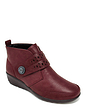 Cushion Walk Fancy Button Touch and Close Tab Fastening Boot