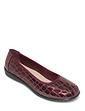 Mock Croc Patent Shoe