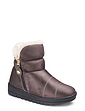 Ladies Faux Suede Thermal Lined Zip Boot