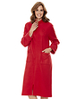 Zip Embroidered Dressing Gown