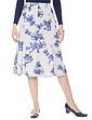 Warm Handle Floral Print Skirt