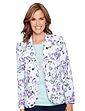 Tailored Print Linen Jacket