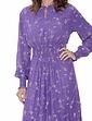 Smock Detail Viscose Print Dress