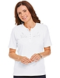 Ladies Grandad Top With Embroidery