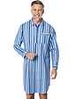 Mens Brushed Cotton Stripe Night Shirt