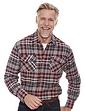 Mens Brushed Check Long Sleeved Shirt