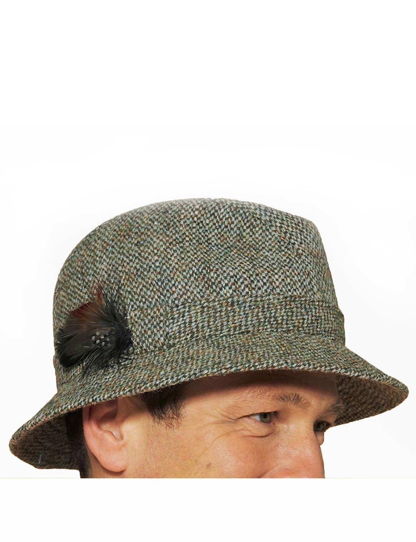 Harris Tweed Drop Brim Hat Menswear Mens Accessories