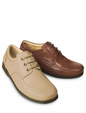 REAL LEATHER LACE-UP SHOE
