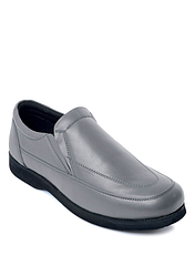 CAMBRIDGE REAL LEATHER SLIP ON COMFORT SHOE