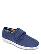 Wide Fit Touch Fasten Canvas Shoes