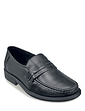 Leather Wide Fit Slip On Moccasin Shoe