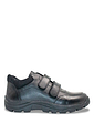 Mens Water Resistant Touch Fasten Leather Hiker Wide Fit
