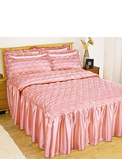 SATIN BEDSPREAD WITH FREE PILLOWSHAMS