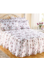 ROSE GARDEN QUILTED FITTED BEDSPREAD
