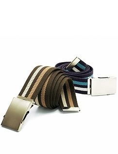 Pack Of 2 Webbing Belts