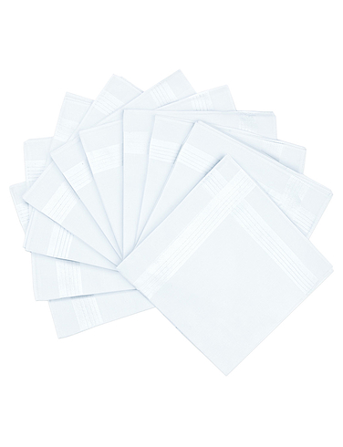 Pack Of 10 Handkerchiefs