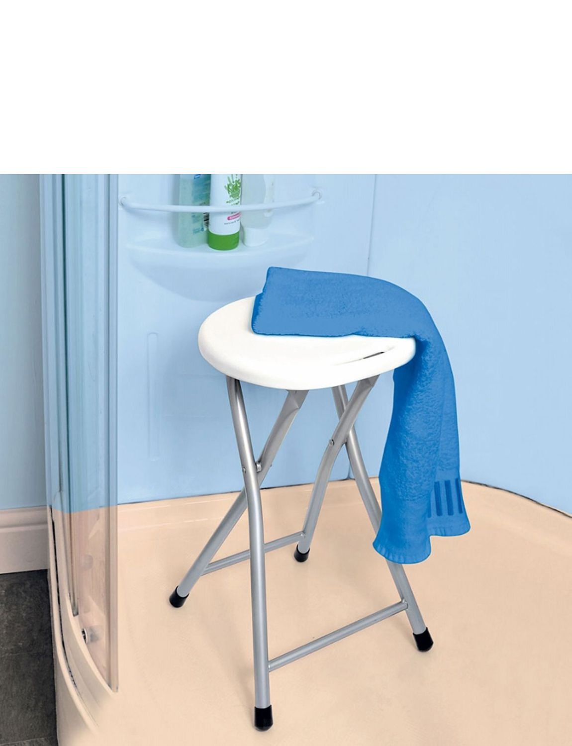 Folding Shower Stool Mobility Bathroom