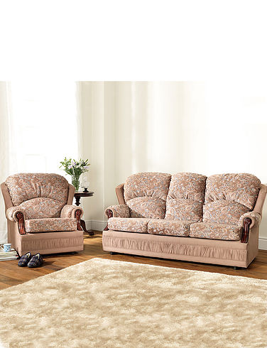 Chorlton Three Seater Settee And Two Chairs