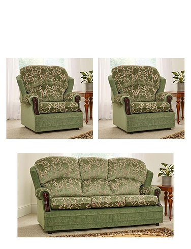 Chorlton Suite - Two Seater Settee + 2 Chairs