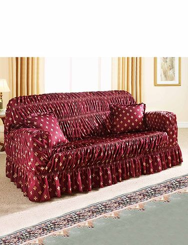 Fleur De Lys Stretch To Fit Settee Plus 2 Chairs Furniture Cover