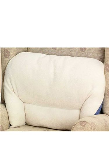 Fleece Back Rest Lumber Support Aid Armchair Cushion