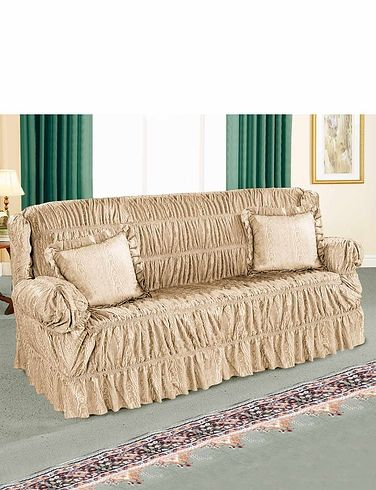 Cascade Stretchable Settee Plus 2 Chairs Furniture Cover