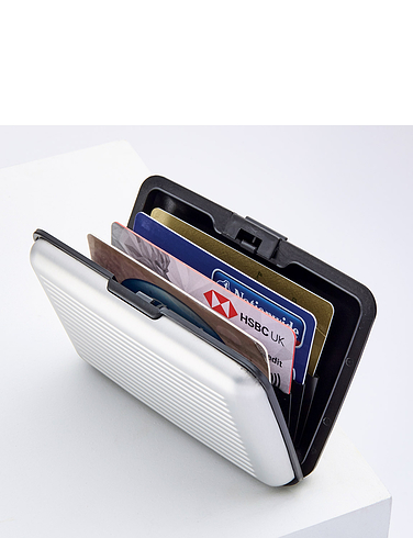 Credit Card Safety Wallet - Silver