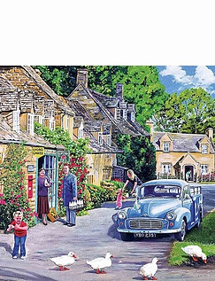 The Milk mans Round  - 4 x 500 Jigsaw Puzzles