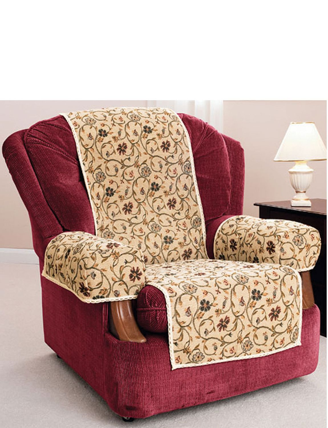 TAPESTRY ARM CAP FURNITURE PROTECTOR PAIR Home Living Room