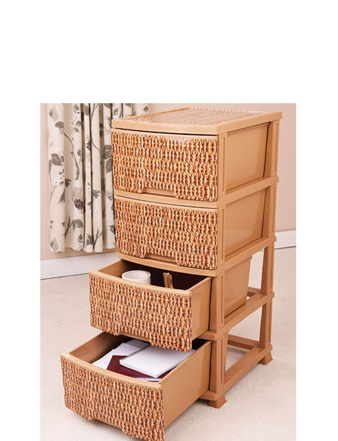 Wicker Effect Extra Large Storage Units Home Furniture