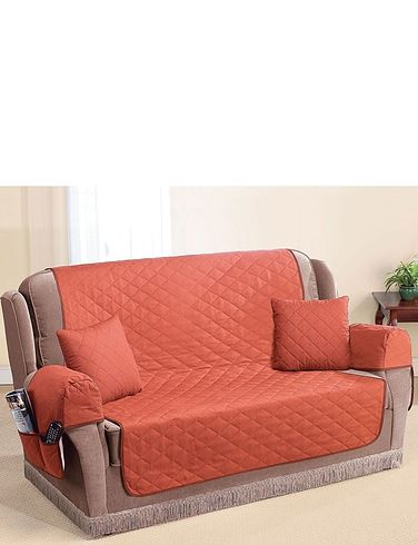 QUILTED WASHABLE ARM CAP FURNITURE PROTECTOR SET Home Living Room