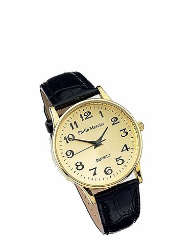 Ladies Gold Face Classic Round  Quartz Watch