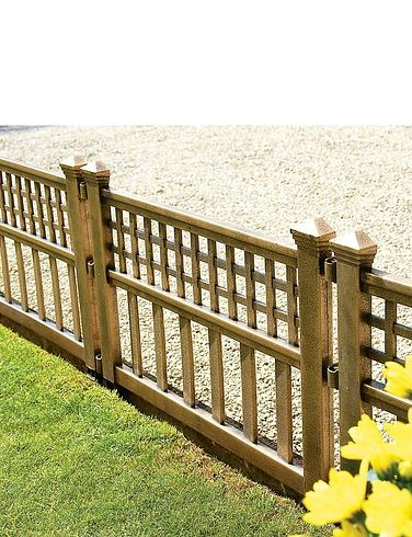 Bronze Garden Fence Panels