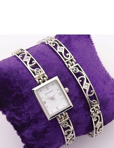 LADIES WATCH AND BRACELET SET
