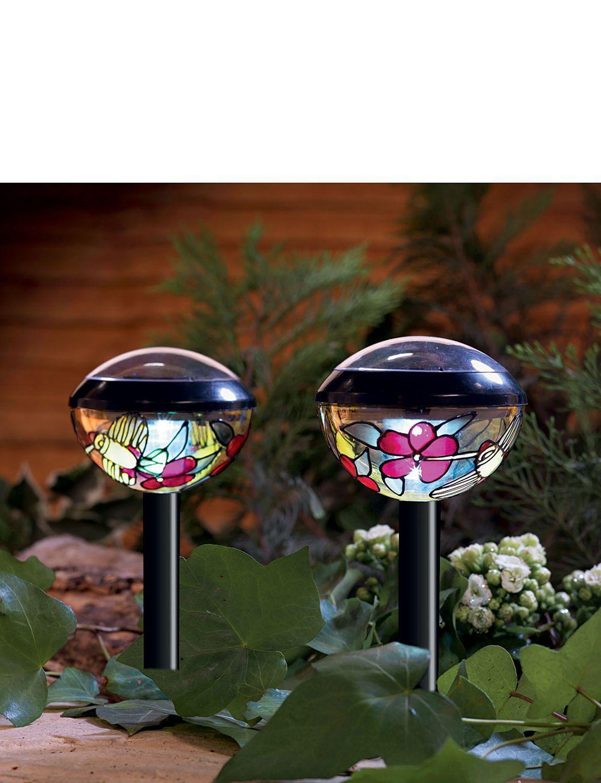 Tiffany Style Solar Lights Home Gardening