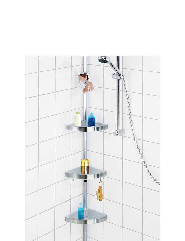 Bathroom shelves corner - Telescopic Corner Shelf 4 Shelves