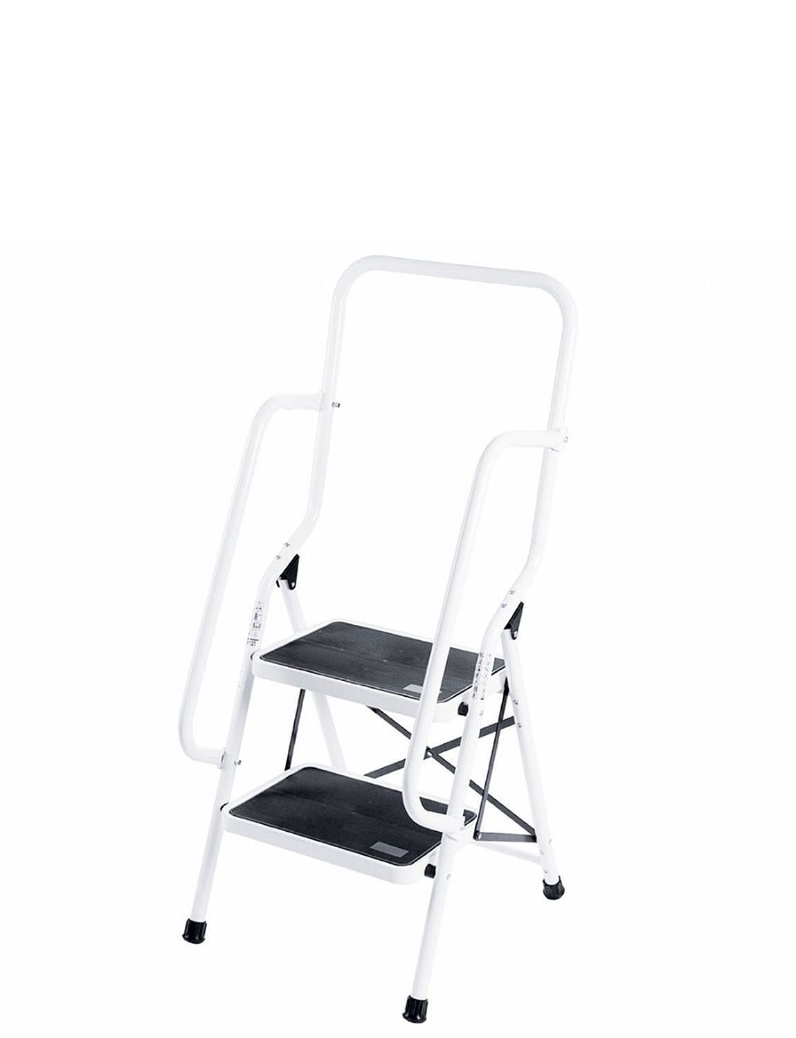 Two Step Safety Ladder With Safety Rails Home Household