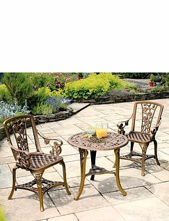 THREE PIECE ROSE PATIO SET