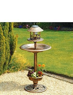 3 IN 1 SOLAR BIRD BATH AND FEEDER