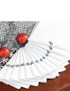 Mens Baker's Dozen Initialled Handkerchief Set