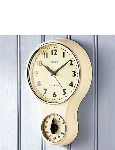 Retro Wall Clock with Timer