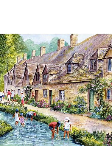 Boxed Set Of 2 x 1000Pc Cotswold Villages Jigsaw Puzzles