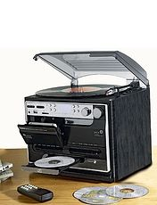 Full Function Stereo Stack System With Twin Cassette and Record With Record Maintenance Kit